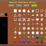 formas editor particulas geometry dash
